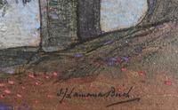 A watercolour by Samuel John Lamorna Birch RA  1869 - 1955 'A lake seen through trees' (2 of 4)