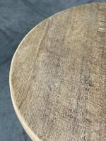 French Round Bleached Oak Farmhouse Dining Table (9 of 19)