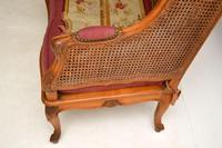 Antique French Carved Walnut Bergere Sofa (9 of 15)