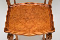 Antique Burr Walnut Pie Crust Nest of Tables (8 of 8)