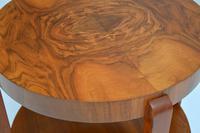 1920's Art Deco Period Walnut Coffee Table (3 of 7)