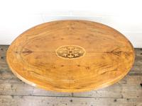 Victorian Walnut Oval Tilt Top Occasional Table (M-1713) (2 of 11)