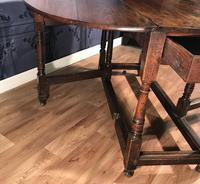 Georgian Oak Drop Leaf Table (8 of 11)