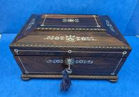 William IV Rosewood Sarcophagus Box with Inlay (2 of 13)