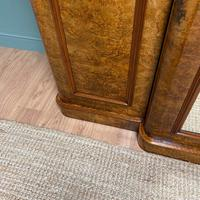 Spectacular Quality Figured Burr Walnut Antique Triple Wardrobe (5 of 10)