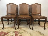 Vintage French Set of 6 Bergère Cane Dining Chairs Louis Style (3 of 8)