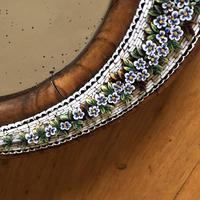 19th Century Italian Olive Wood Easel Mirror - Millefiori Micro Inlaid Detail (9 of 10)