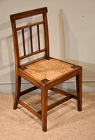 George III Elm Dining Chairs with Rush Seats (3 of 7)