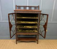 Carved Mahogany Display Cabinet (12 of 14)