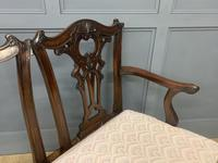 Mahogany Chippendale Style Triple Chair Back Settee (6 of 18)
