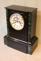 Mid 19th Century Polished Slate Visible Escapement Mantel Clock (13 of 16)