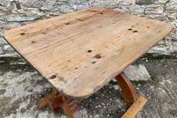 Antique Swedish Pine X-frame Trestle Table (6 of 21)