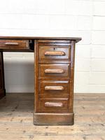 Antique Oak Pedestal Desk (5 of 10)