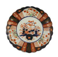 Meiji Period Scallop Edged Imari Plate