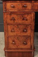 Exceptional Victorian Figured Walnut Desk (13 of 18)