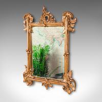 Small Antique Vanity Mirror, Italian, Giltwood, Dressing, Victorian c.1890 (3 of 10)