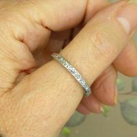 Antique Art Deco platinum diamond full eternity wedding band c1920's ~ Size Q / 8 (7 of 10)