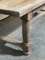 Rare Large & Deep Oak Farmhouse Dining Table (19 of 31)