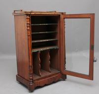19th Century Burr Walnut Inlaid Music Cabinet (4 of 9)