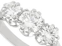 1.89ct Diamond & 18ct White Gold Trilogy Ring c.1950 (3 of 9)