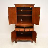 Antique Georgian Style Burr Walnut Cabinet (8 of 11)