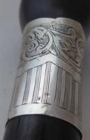 Walking Stick Cane 1925 Hallmarked Solid Silver Collar Macassar Ebony Shaft (6 of 11)