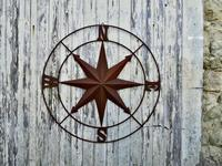 Iron Wall Hanging Nautical North South East & West, Ships Compass (6 of 6)