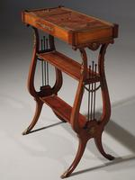 Attractive & Slender Mid 19th Century Mahogany Tricoteuse (2 of 8)