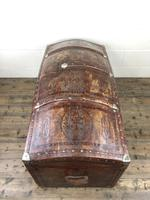 Large Leather Bound Dome Top Trunk (11 of 15)