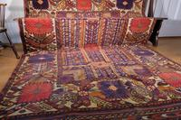 Large Mid 20th Century Colourful Flat Weave Woolen Rug (11 of 15)