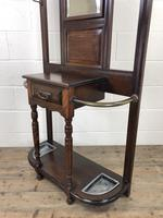 Antique Edwardian Mahogany Mirror Hall Stand (6 of 9)