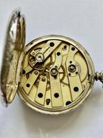 Pretty Silver Ladies Fob Watch & Fob c.1890 (9 of 9)