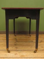 Antique Black Painted Writing Table with Wooden Top, Gothic Shabby Chic (10 of 19)