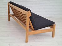Danish Design by Børge Mogensen, Sofa Model 217, Completely Reupholstered 1970s, Furniture Wool, Oak (4 of 13)