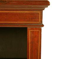 Inlaid Mahogany Open Bookshelves (5 of 7)