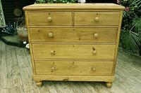 Fabulous & Very Large Old Victorian Pine Chest of Drawers (2 of 8)