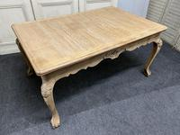 French Bleached Oak Extending Dining Table (11 of 17)