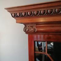 Victorian Mahogany Glazed Bookcase / Bureau with pigeon holes (13 of 14)