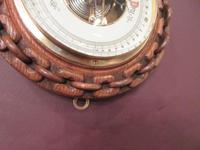 Antique Polished Oak Ship's Barometer (5 of 6)