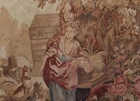 Antique French Tapestry Classical Courtly Love Romance c.1860 (9 of 17)