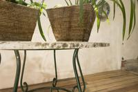 """A 20th Century French Iron and Marble """"orangerie"""" Centre - Garden Table (11 of 13)"""