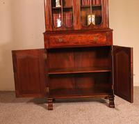 Small English Bookcase With Secretaire From The 19th Century In Mahogany (7 of 11)