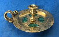 Victorian Gilt Brass Malachite Stationary Desk Set (4 of 17)