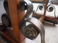 Amazing Original 1930s Art Deco Walnut Cheval Type Freestanding Mirror (7 of 10)