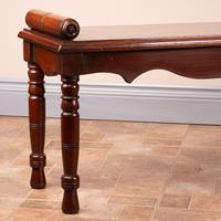 Large Late Victorian Mahogany Hall Bench Window Seat (8 of 11)