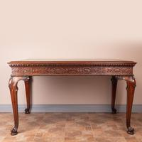 Superb Quality Mahogany Chippendale Design Writing Table (2 of 23)