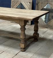 Deep Bleached Oak French Farmhouse Dining Table (7 of 20)