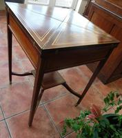 Maple & co Mahogany Inlaid Card Table / Games Table (11 of 14)