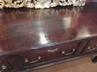 George II Period Oak Three Drawer Dresser (8 of 14)