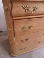 Victorian Antique Pine 4 Drawer Swedish Chest of Drawers to Wax / Paint (7 of 10)